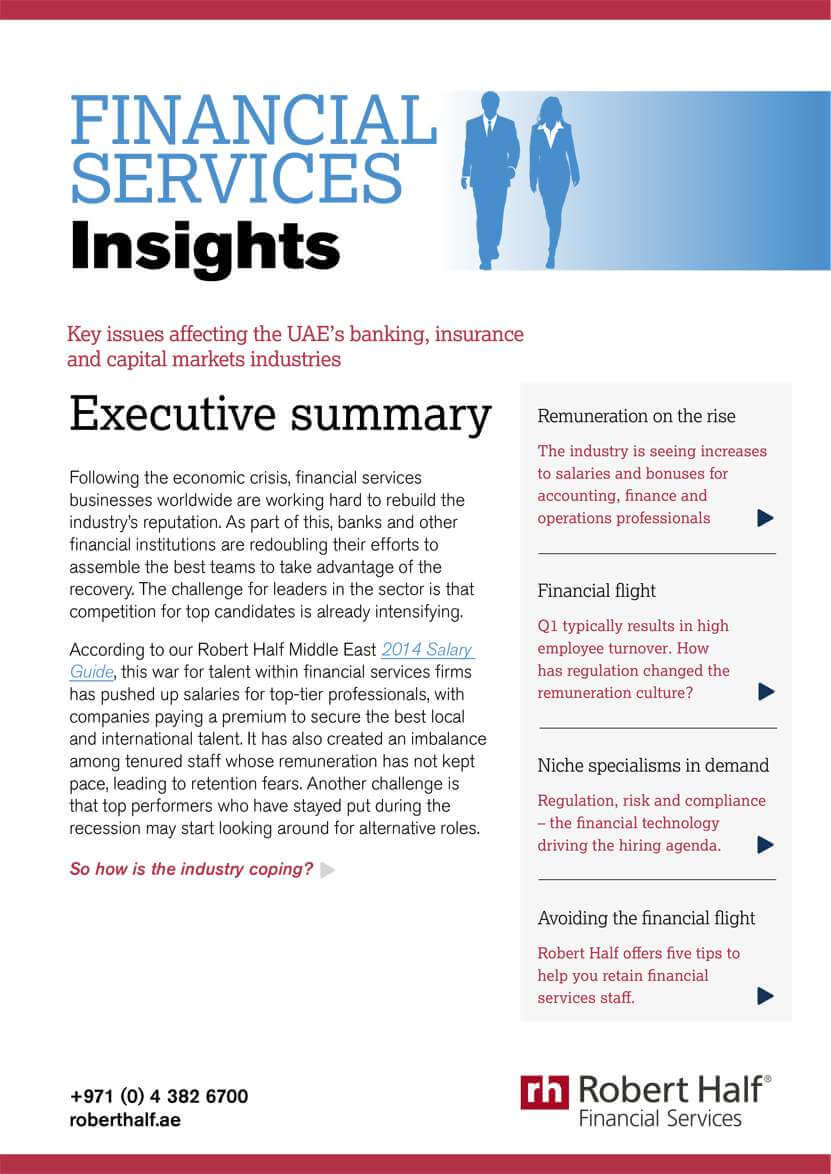Financial Services Insights cover