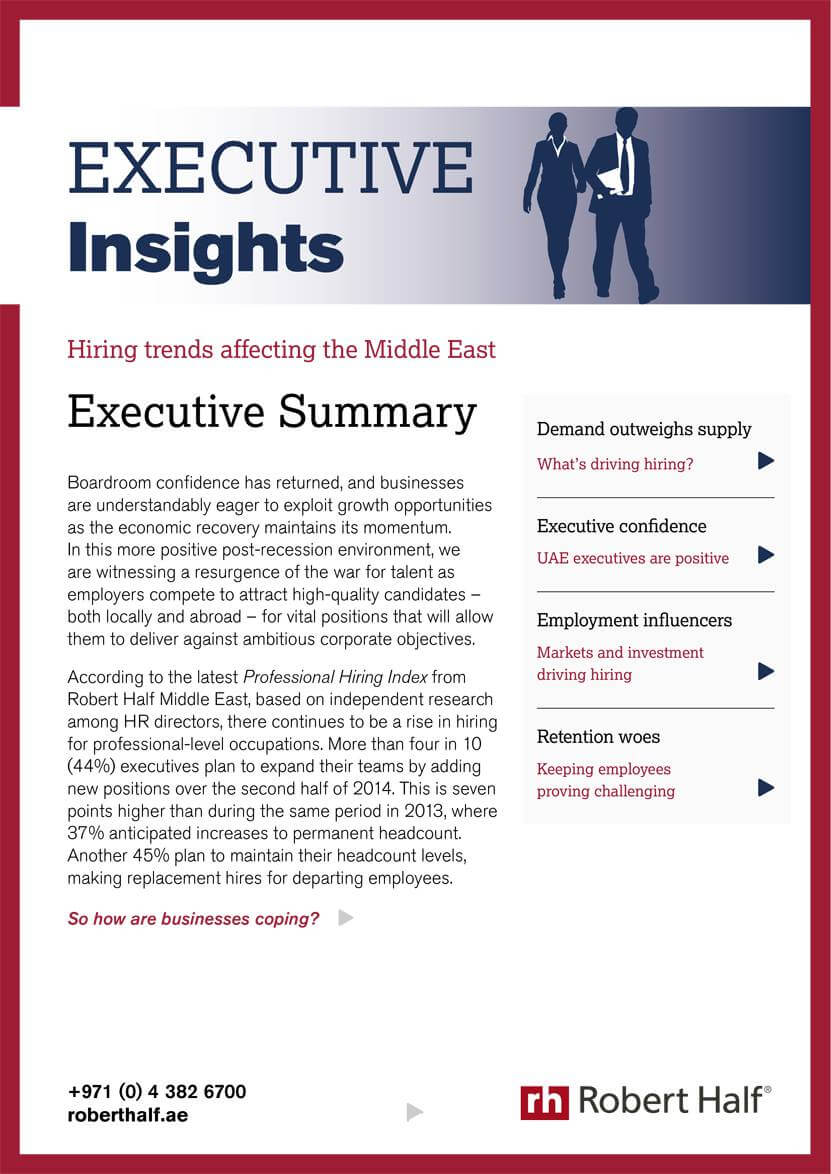 Download Our Latest Reports Amp Guides Robert Half Uae