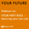 Securing a new job webinar