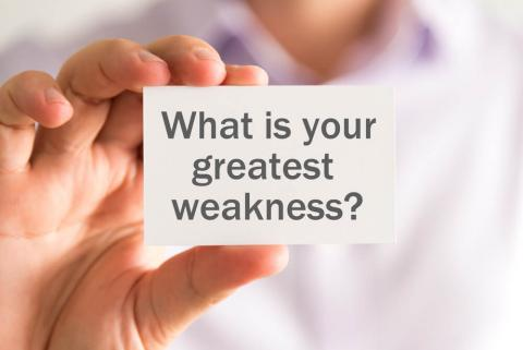 What are your greatest weakness? Job interview question